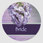 Lilac bridal stickers