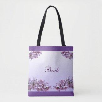 Lilac Bridal Wedding Tote Bag