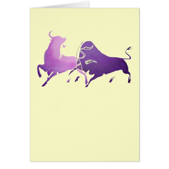 Lilac Bullfight PNG Card