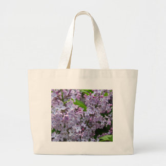 Lilac Bunches Large Tote Bag