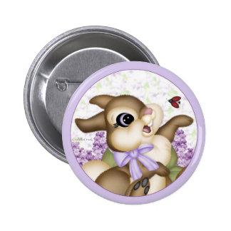 Lilac Bunny Button