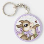 Lilac Bunny Keychain