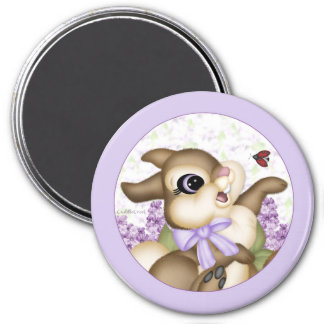 Lilac Bunny Magnet