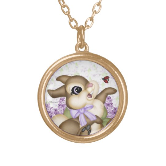 Lilac Bunny Necklace