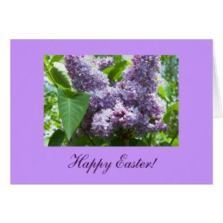Lilac Bunny Photo Template Card