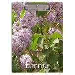 Lilac Bush Beautiful Purple Spring Flowers Clipboard