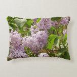 Lilac Bush Beautiful Purple Spring Flowers Decorative Pillow
