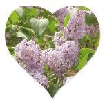 Lilac Bush Beautiful Purple Spring Flowers Heart Sticker