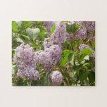 Lilac Bush Beautiful Purple Spring Flowers Jigsaw Puzzle