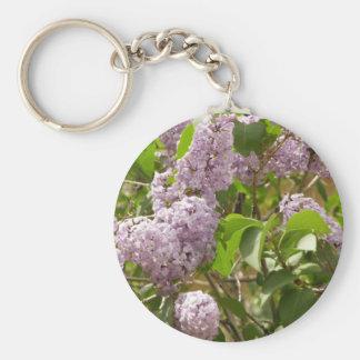 Lilac Bush Beautiful Purple Spring Flowers Keychain