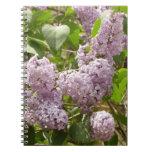 Lilac Bush Beautiful Purple Spring Flowers Notebook