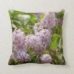 Lilac Bush Beautiful Purple Spring Flowers Pillow