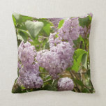 Lilac Bush Beautiful Purple Spring Flowers Throw Pillow