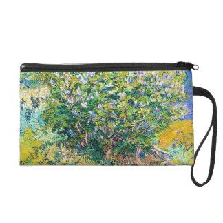Lilac Bush by Vincent Van Gogh painting Wristlet Clutches