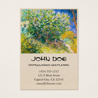 Lilac Bush by Vincent Van Gogh painting Business Card