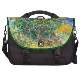 Lilac Bush by Vincent Van Gogh painting Computer Bag
