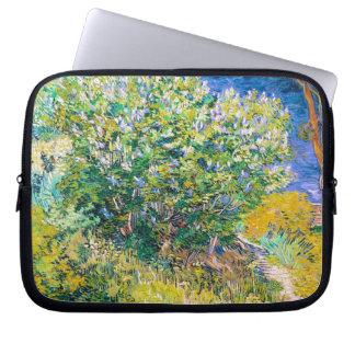Lilac Bush by Vincent Van Gogh painting Laptop Sleeve