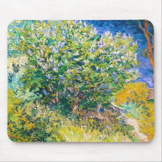 Lilac Bush by Vincent Van Gogh painting Mouse Pad