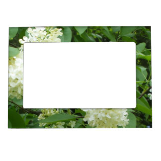 Lilac Bush for   Grandparents on Their Day Magnetic Photo Frame