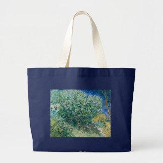 Lilac Bush Lilacs by Vincent Van Gogh Canvas Bags