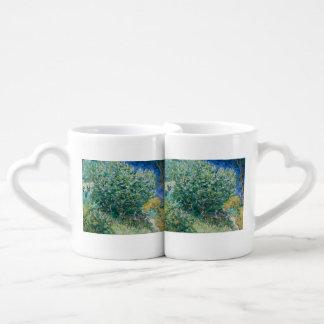 Lilac Bush (Lilacs) by Vincent Van Gogh Coffee Mug Set