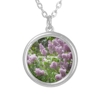 Lilac Bush Silver Plated Necklace