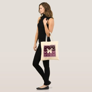 Beach Themed Lilac Butterflies Budget Tote