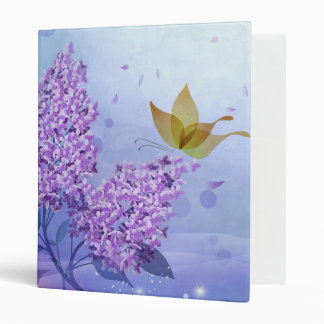 Lilac Butterfly Binders