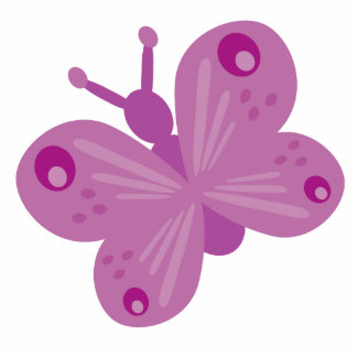 Lilac butterfly brooch photo cutouts