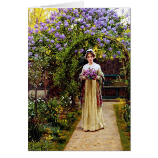 LIlac by Edmand Blair Leighton Greeting Cards