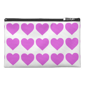 Lilac Candy Hearts on White Travel Accessories Bag