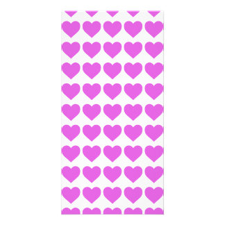 Lilac Candy Hearts on White Photo Cards