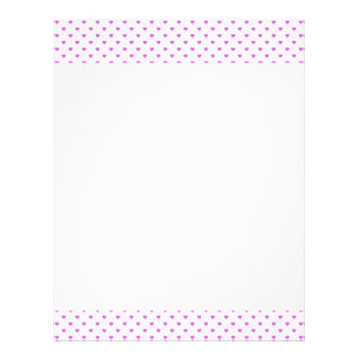 Lilac Candy Polkadot Hearts on White Letterhead