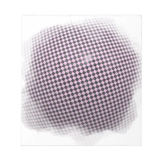 Lilac checkered background notepad