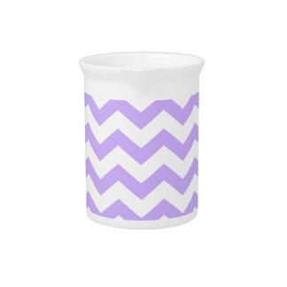 Lilac Chevron Beverage Pitcher