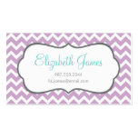 Lilac Chevron Double-Sided Standard Business Cards (Pack Of 100)
