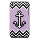 Lilac Chevron Nautical iPod Touch Cases