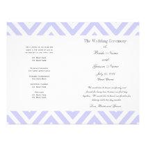 Lilac Chevron Pattern Modern Wedding Program