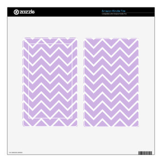 Lilac Chevron Pattern Skins For Kindle Fire