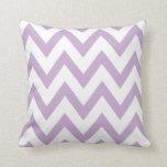 Lilac Chevron Throw Pillow