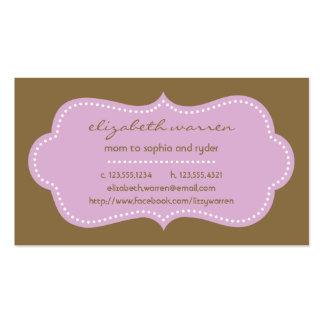 Lilac Chic Moderna Mommy Calling Card Double-Sided Standard Business Cards (Pack Of 100)