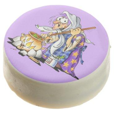 Halloween Themed Lilac Chocolate Halloween Cookies - Purple Witch