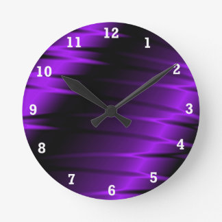 Lilac Claws Round Clock