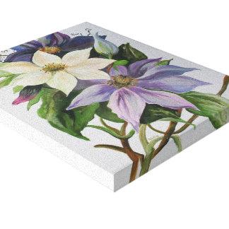 Lilac Clematis Canvas Prints