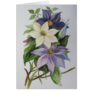 Lilac Clematis Greeting Card
