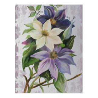 Lilac Clematis Postcard