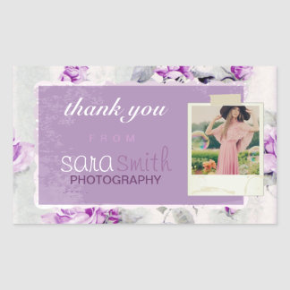Lilac Client Thank You Stickers