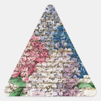 Lilac Collage Letter Triangle Sticker