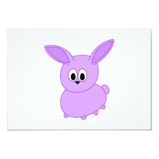 Lilac color bunny. card