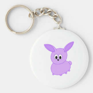 Lilac color bunny. keychain